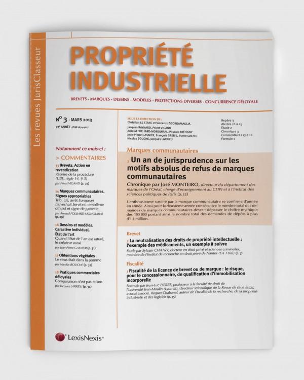 Propri t industrielle mars 2013 jurisclasseur - Cabinet avocat paris droit des affaires ...